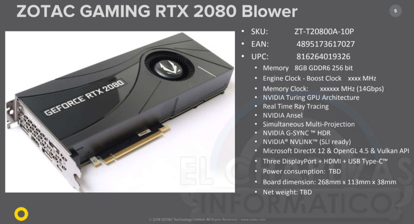 Zotac Geforce Rtx 2080 Ti Amp Edition To Cost 1199 Usd Videocardz Com