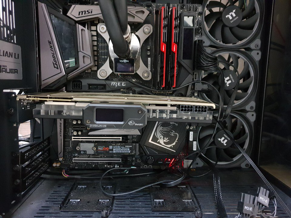 Watercooled and overclocked NVIDIA TITAN RTX scores 31,862