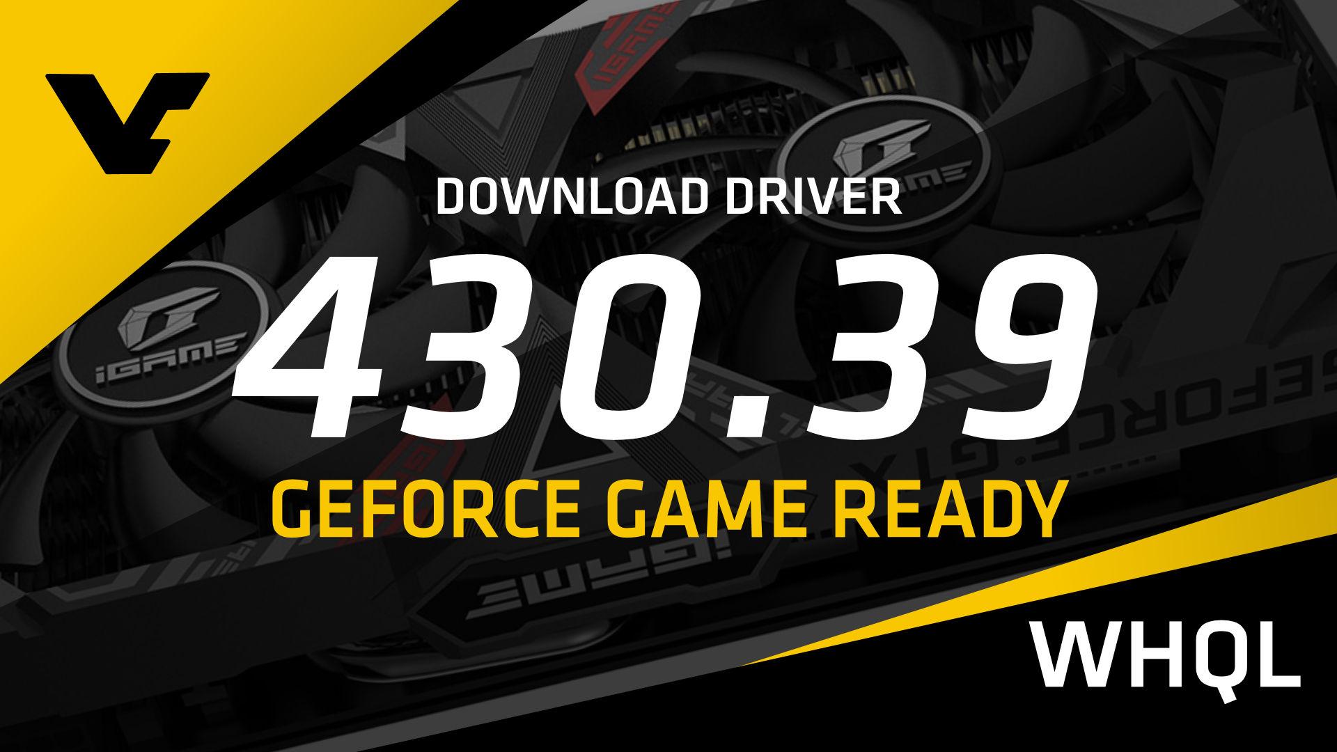 NVIDIA GeForce Game Ready 430 39 WHQL - VideoCardz com