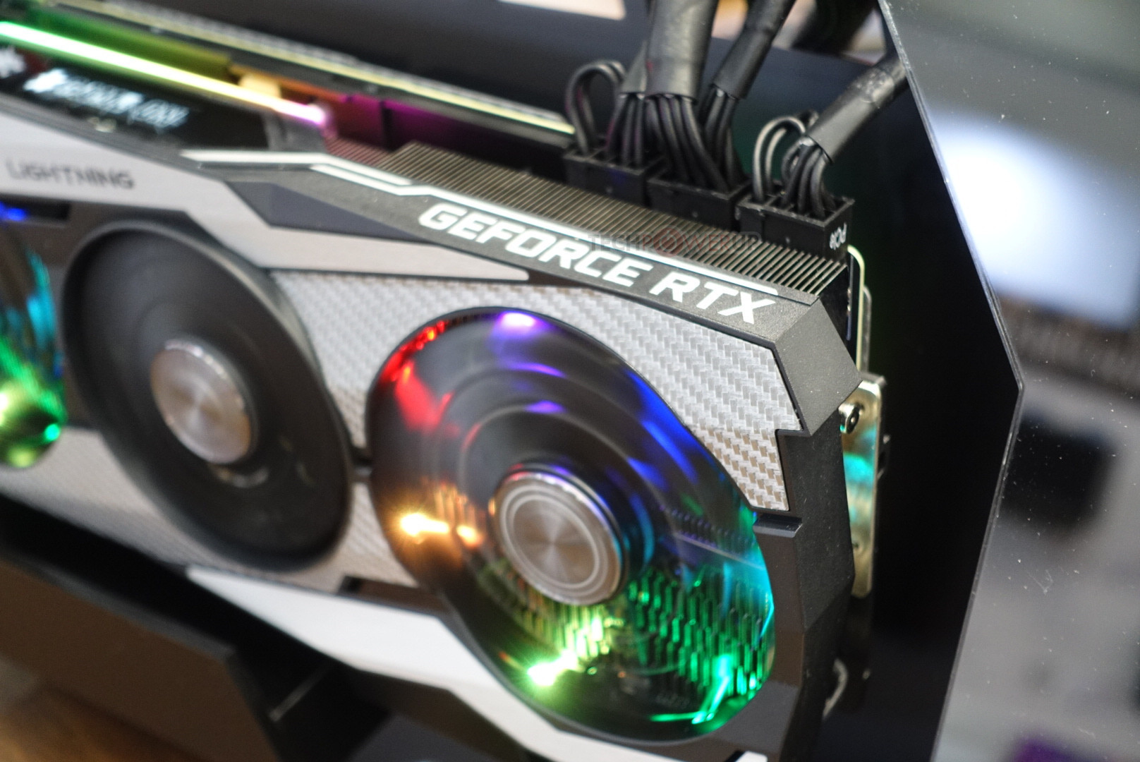 MSI RTX 2080 Ti Lightning 10th Anniversary Edition pictured