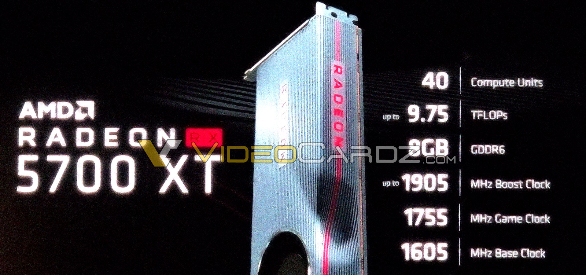 AMD Radeon RX 5700 XT picture and specs leaked | VideoCardz com