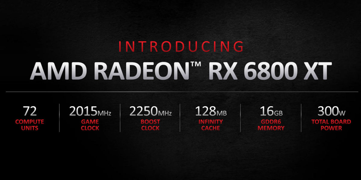 AMD Radeon RX 6800 XT Specifications 1