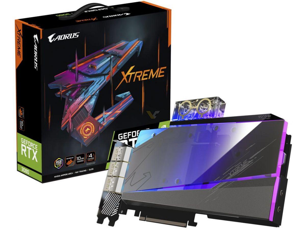 GIGABYTE announces GeForce RTX 3080 AORUS XTREME WaterForce WB