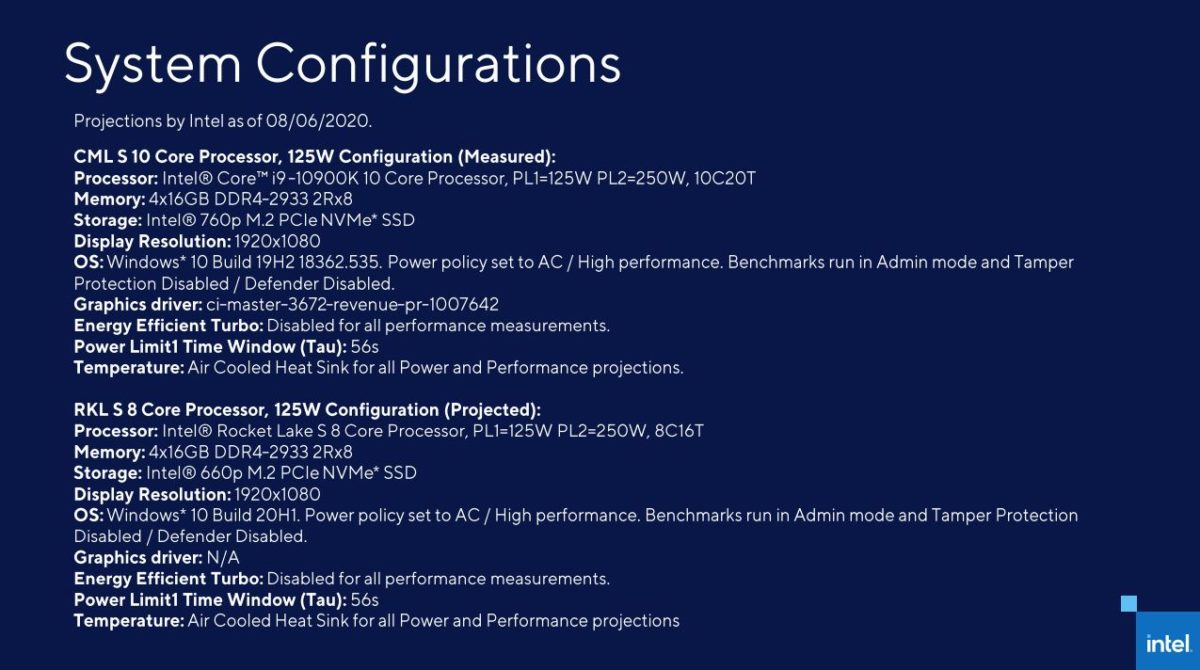 Intel Rocket Lake S 11th Gen Core 2