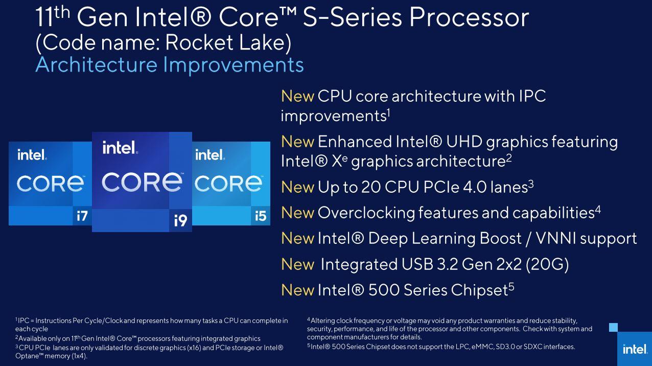 Intel Rocket Lake S 11th Gen Core 6
