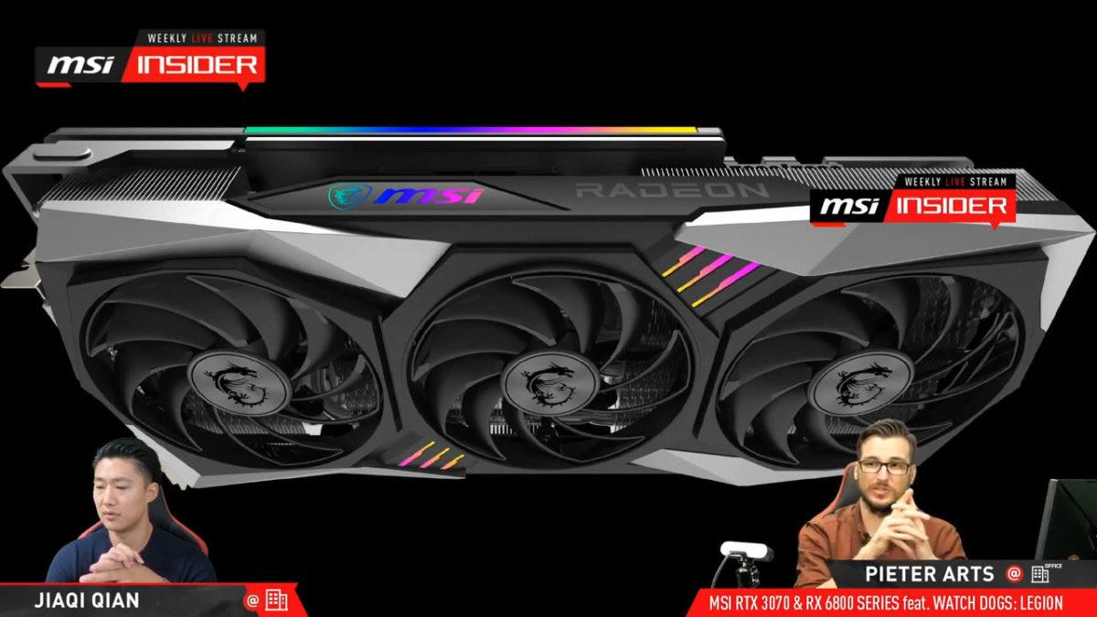 MSI Radeon RX 6800 XT GAMING X TRIO GPU
