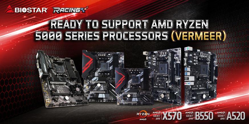 BIOSTAR mengumumkan dukungan AMD Ryzen 5000 untuk 500 series motherboards