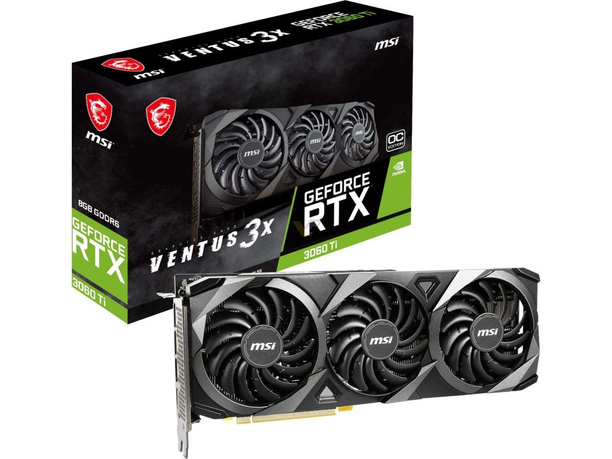 MSI GeForce RTX 3060 Ti 8GB VENTUS 3X OC1