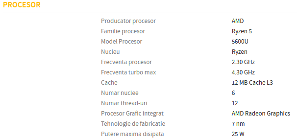 AMD Ryzen 5 5600U Processor