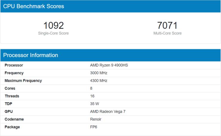 AMD Ryzen 9 4900HS Benchmark Geekbench 740x455 1