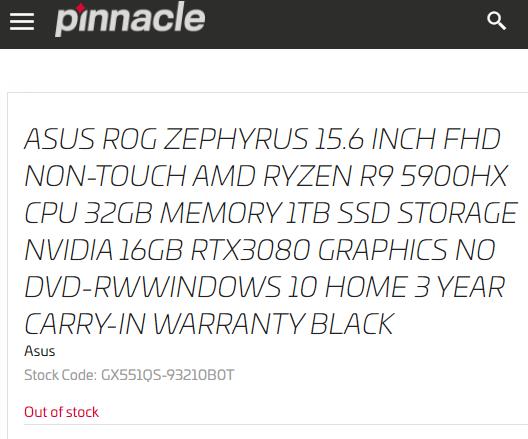 AMD Ryzen 9 5900HX/HS mobile processors spotted alongside GeForce RTX 3080/3070/3060 GPUs – VideoCardz.com
