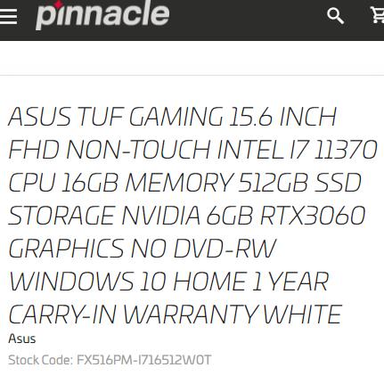 Intel Core i7 11370 Tiger Lake CPU TUF GAMING