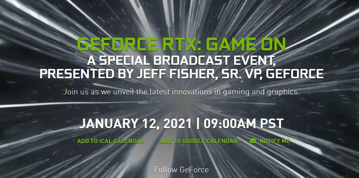 NVIDIA объявляет о пресс-конференции GeForce RTX 12 января