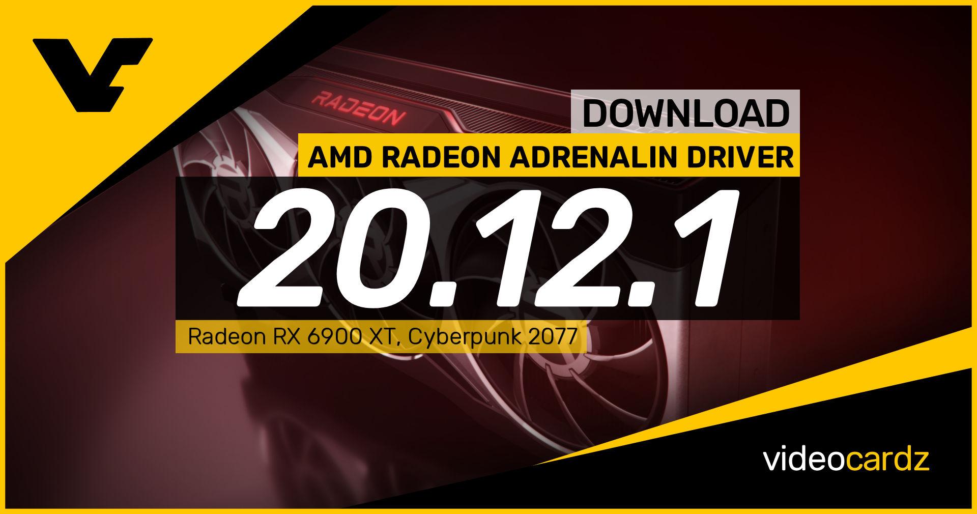 AMD Radeon Adrenalin 2020 20.12.1