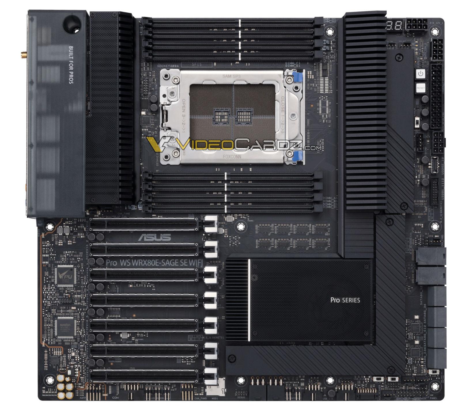 具有7个PCIe x16插槽,支持8通道内存:华硕WRX80主板亮相