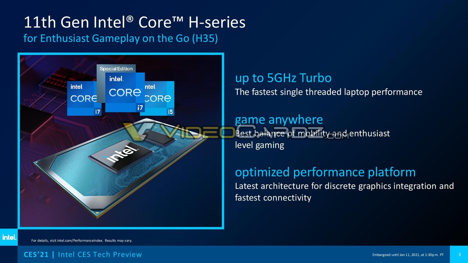 Intel announces 11th Gen Core Tiger Lake-H35 CPUs for ultraportable gaming – VideoCardz.com