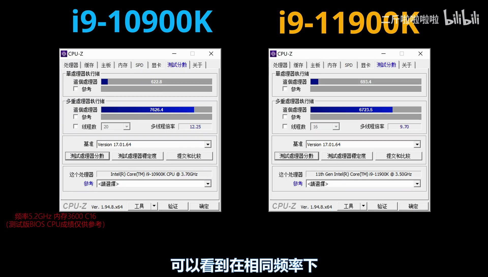 Intel Core i9-11900K qualification sample compared with Core i9-10900K at 5.2 GHz – VideoCardz.com