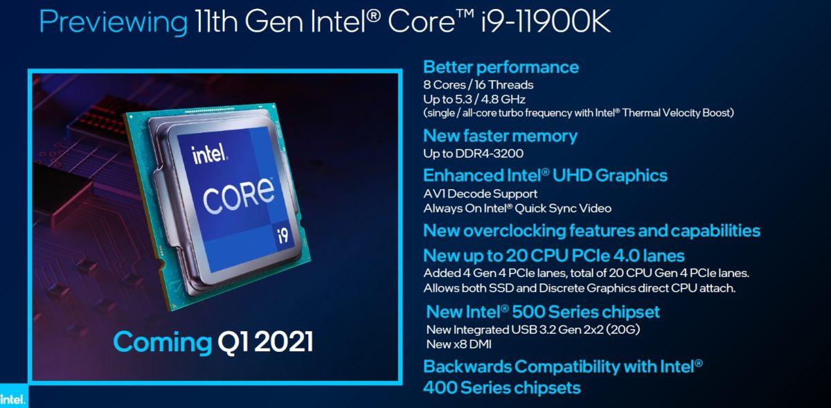 Intel Rocket Lake Core i9 11900K