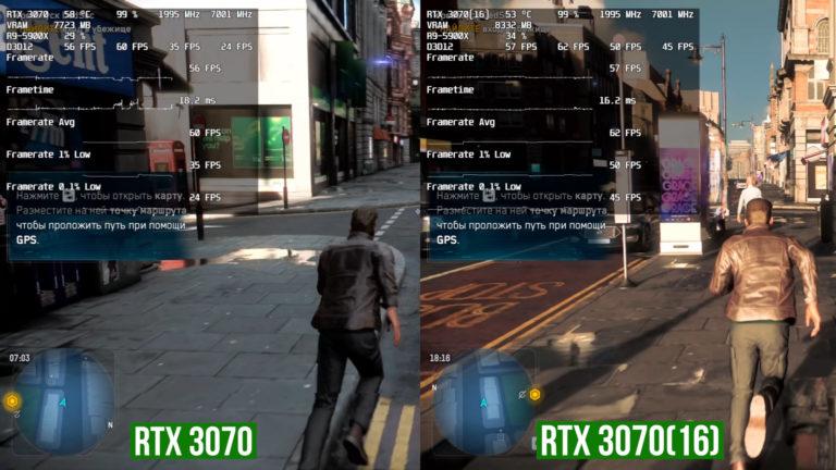 GeForce RTX 3070 16GB Watch Dogs Legion 1