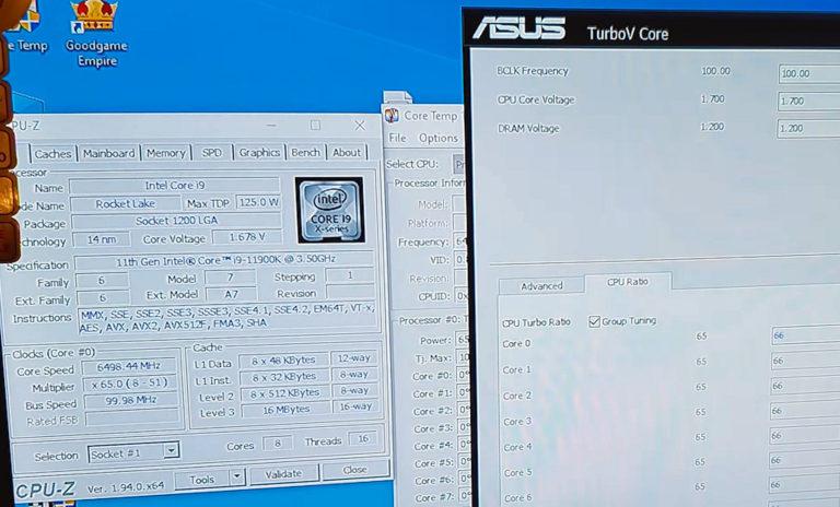 Intel Core i9 11900K 6.5 GHz
