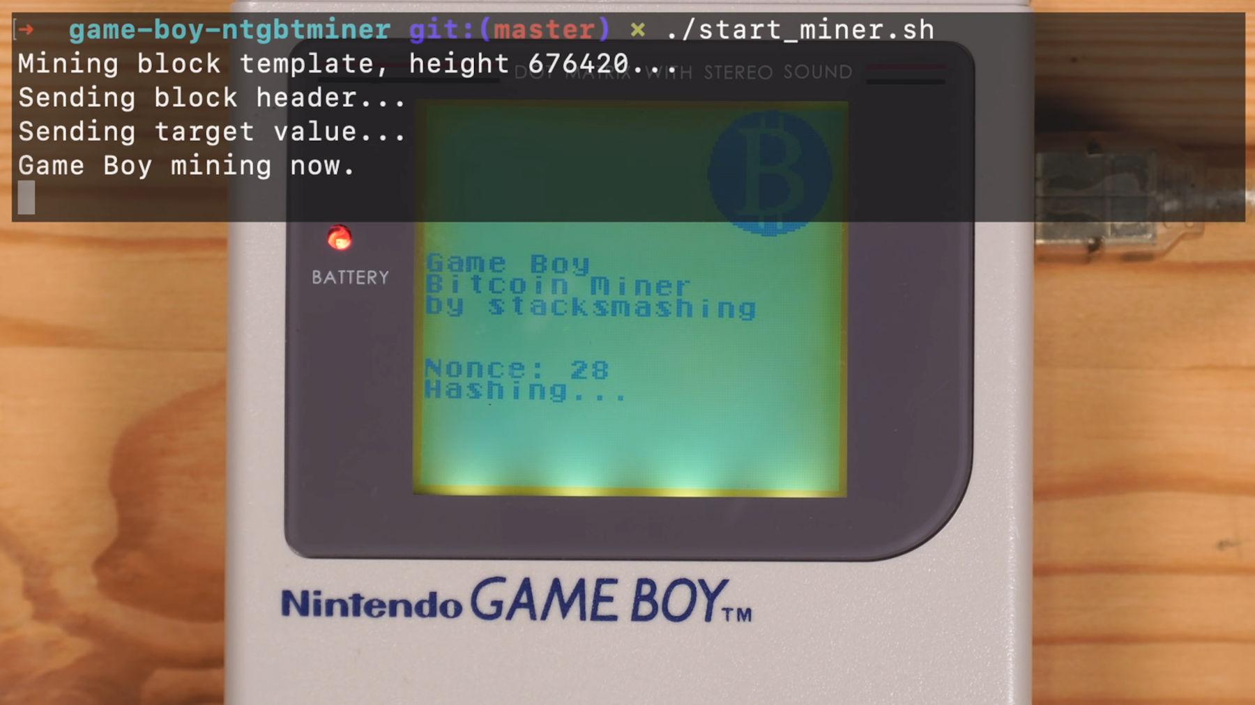 Nintendo Game Boy modded to mine Bitcoin (spoiler: it's slow) – VideoCardz.com