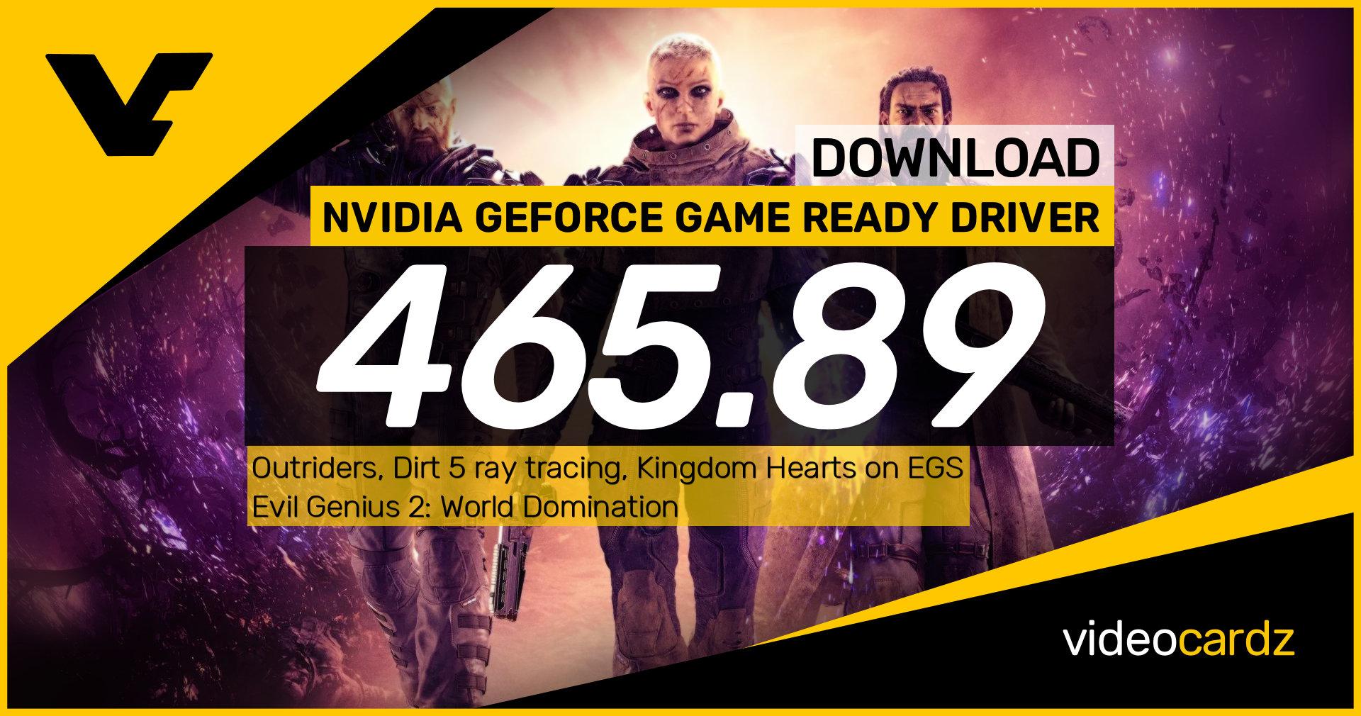 NVIDIA GeForce Game Ready 465.89 WHQL – VideoCardz.com