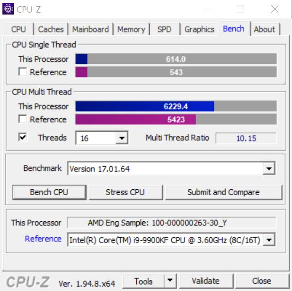 AMD Ryzen 7 5700G ES CPUZ