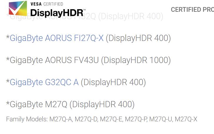 AORUS FV43U DisplayHDR1000
