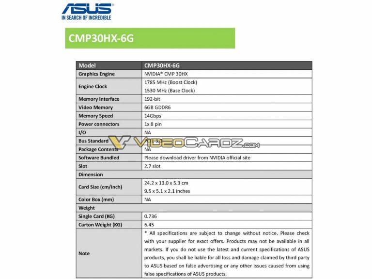 ASUS CMP 30HX 5