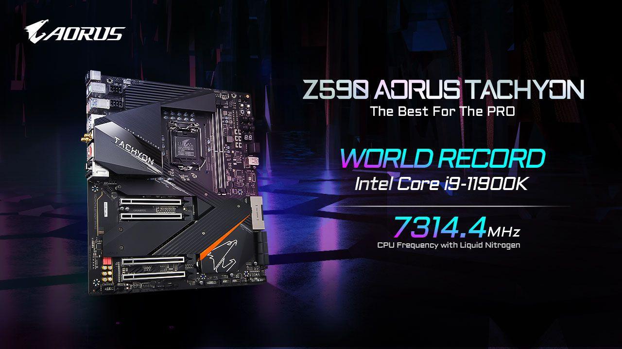 AORUS overclocks Intel Core i9-11900K to 7.3 GHz with Z590 Tachyon motherboard – VideoCardz.com