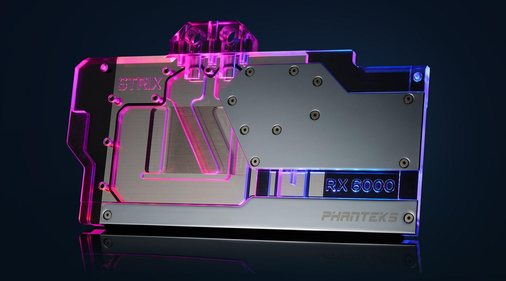 Phanteks announces Glacier G6000 water block for ASUS Radeon RX 6800/6900 TUF and STRIX cards – VideoCardz.com