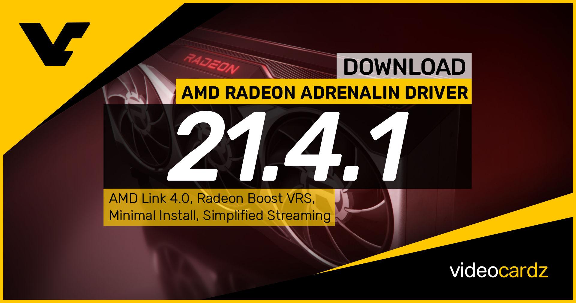 AMD Radeon Adrenalin 2020 21.4.1 – VideoCardz.com