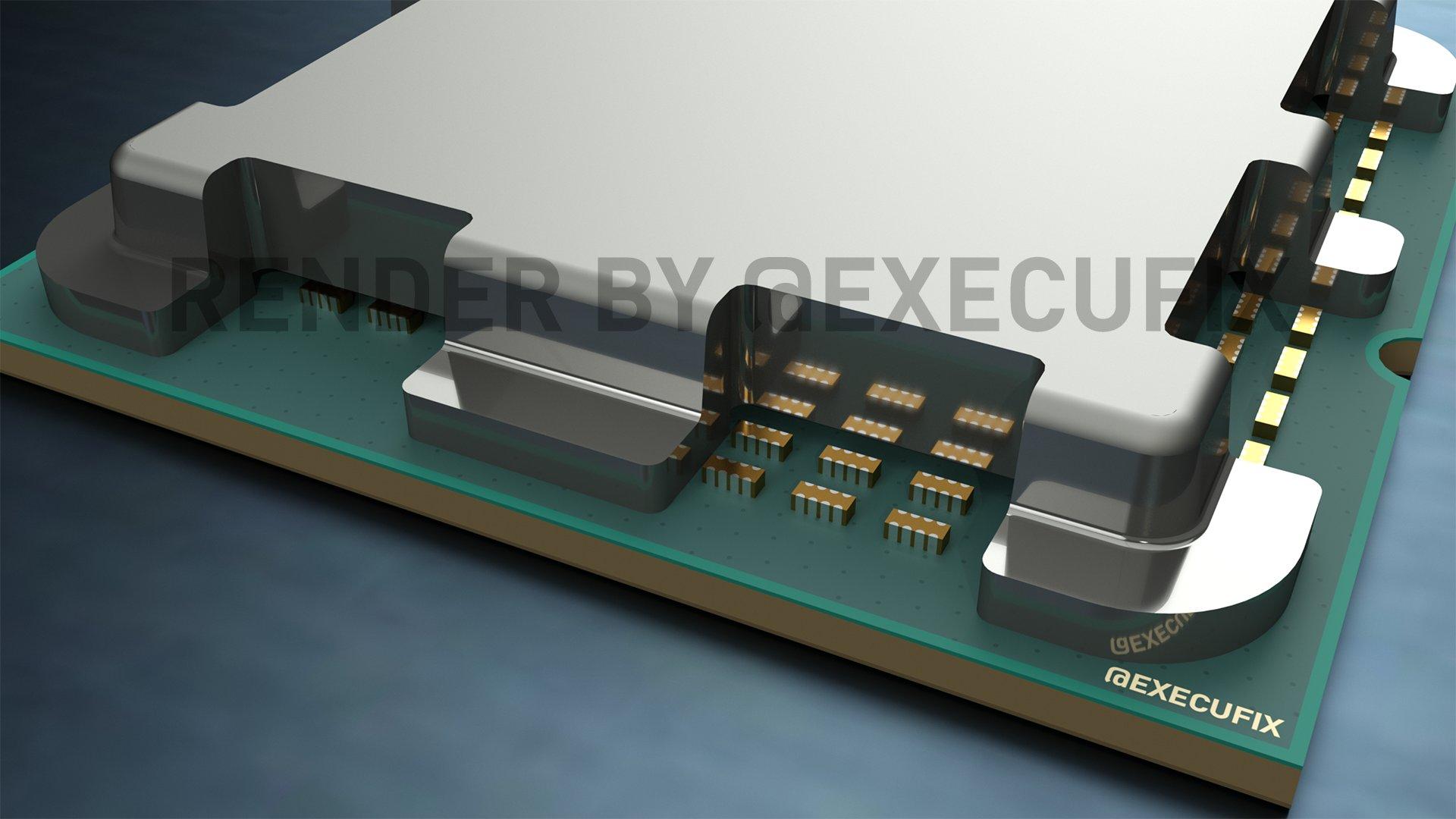 Вырезы в крышке теплораспределителя процессора AMD Raphael скорее всего для конденсаторов